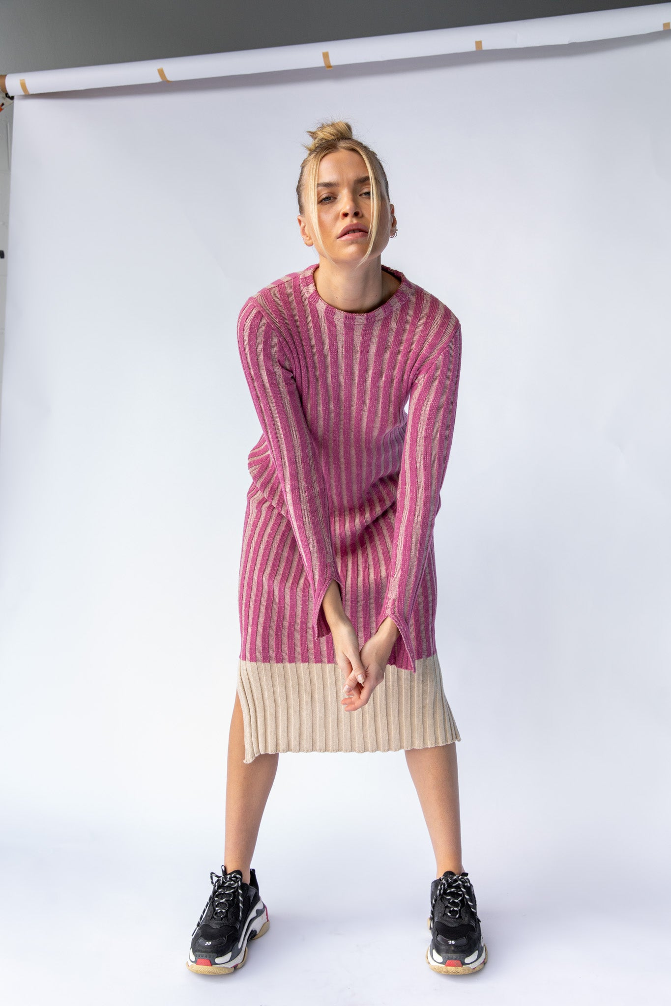 KHAN KNIT DRESS - PINK