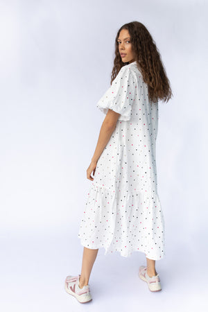 WALDEN DRESS - OFF WHITE EMBROIDERY