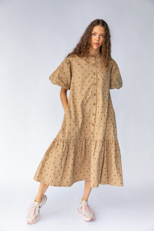 WALDEN DRESS - MUSHROOM EMBROIDERY