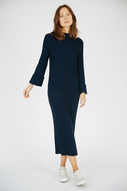 INCY KNIT DRESS - NAVY