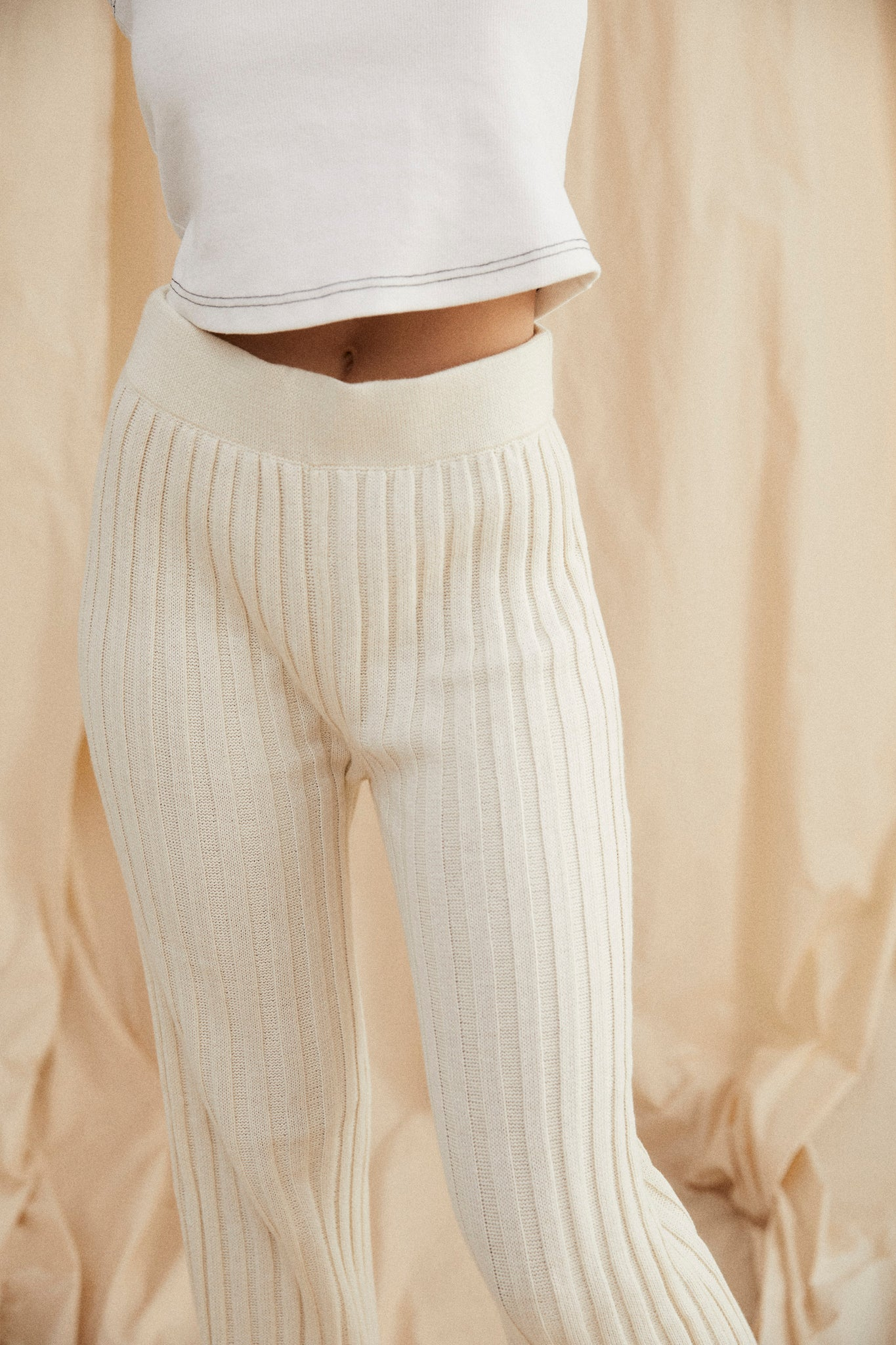 Yen knit pants - Cream
