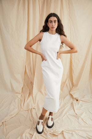 Forest singlet dress - White