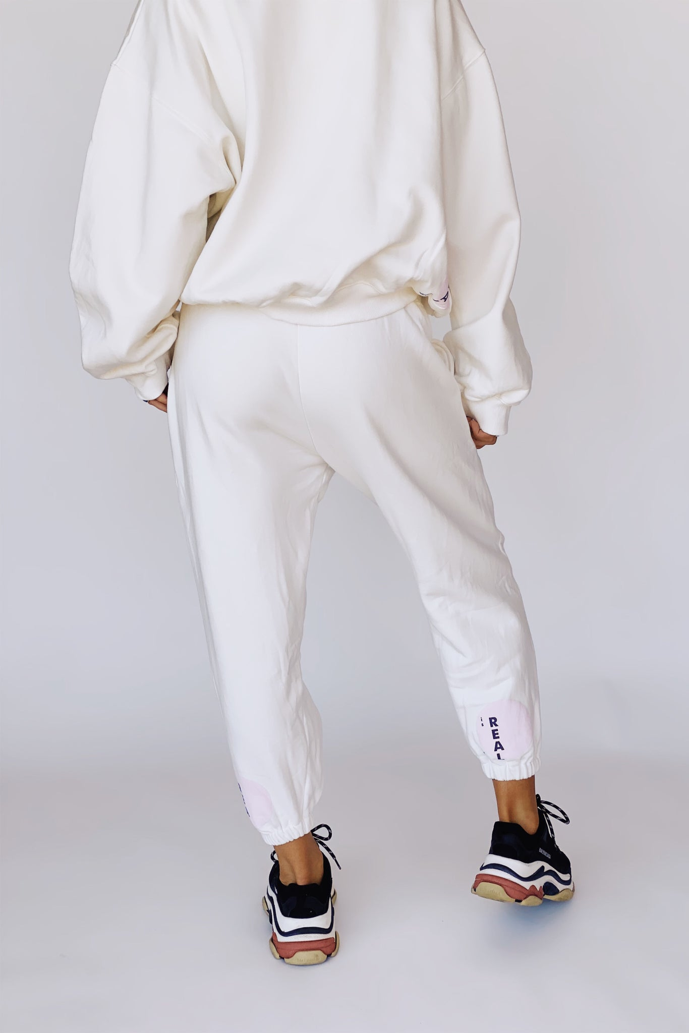 KHALO TRACKPANTS - OFF WHITE