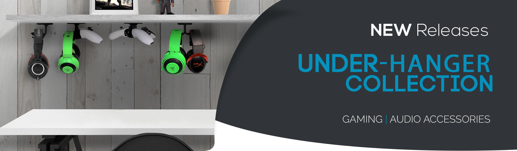 New - Hangers for under Desks & Shelves