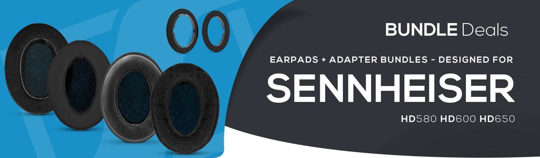 NEW: Earpad and adapter ring bundles for Sennheiser