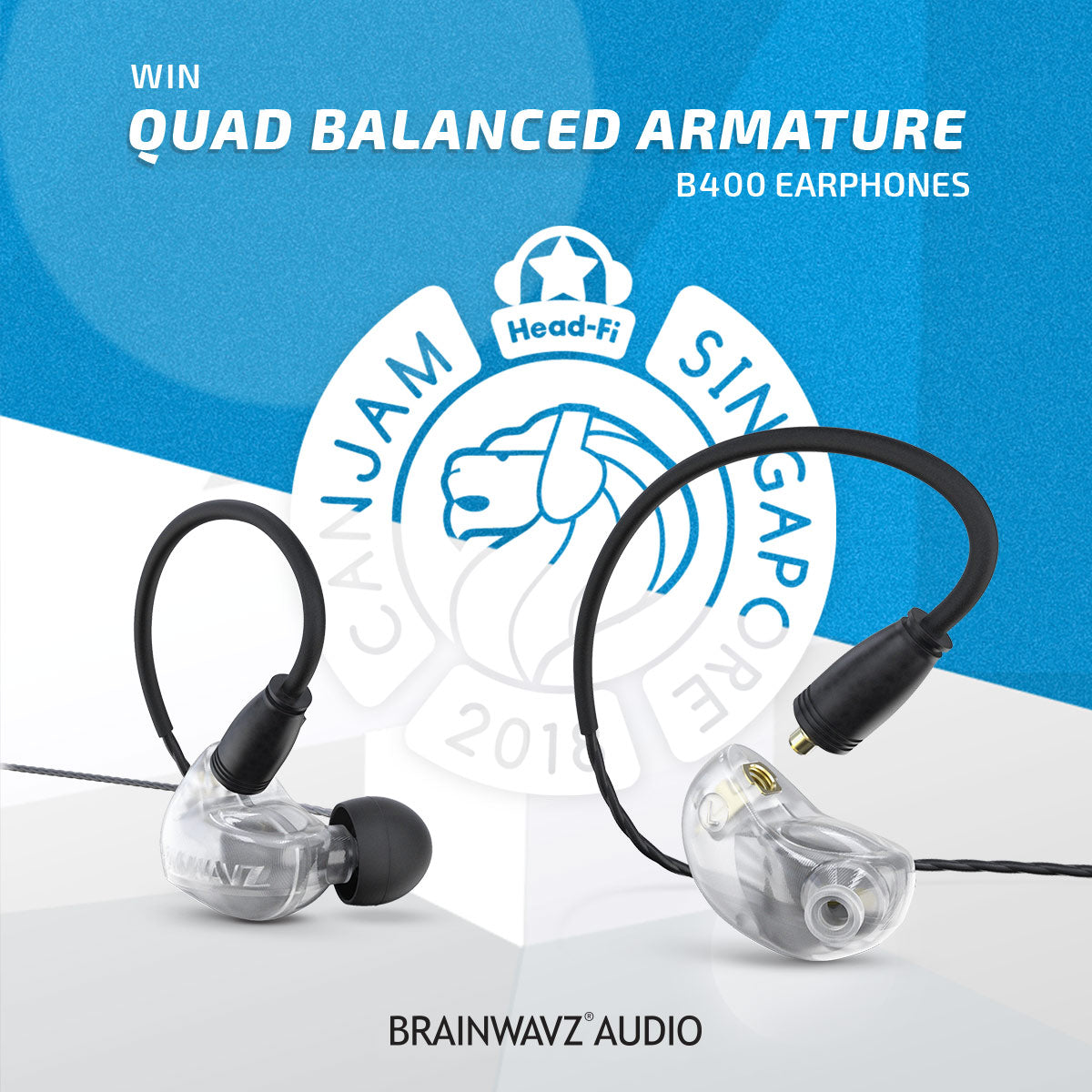 Brainwavz CANJAM Singapore win B400 Balanced Armature