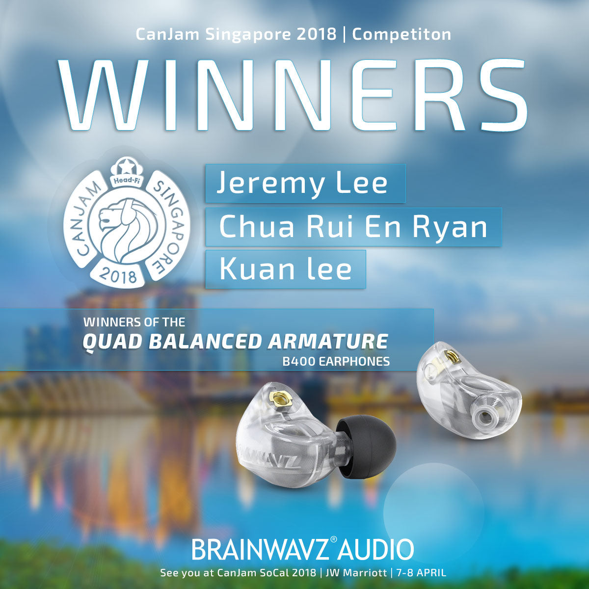 Brainwavz Singapore Competition Winners