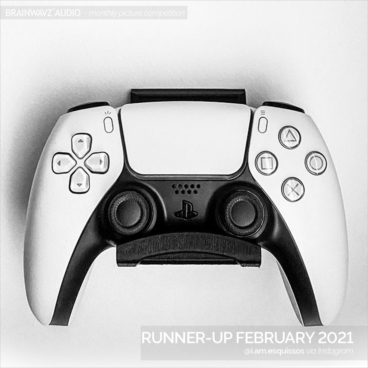 Runner up in the Brainwavz picture comp - Feb - PS5 controller on our DualSense Hanger