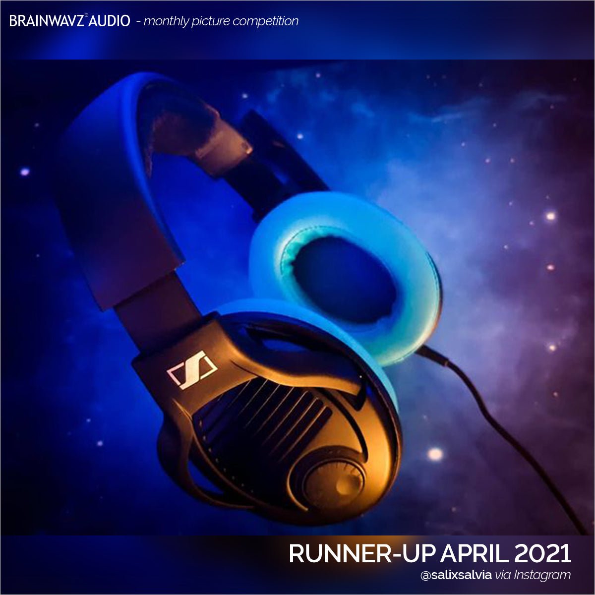 Runner up in Brainwavz monthly photo comp - Sennheiser PC37X headphones with Brainwavz turquoise oval earpads