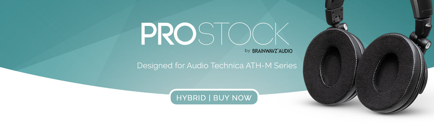 Custom Crafted Ear Pad Design for ATH-M50X M50BTX M20X M30X M40X Headphones Brainwavz Hybrid ProStock ATH M50X Upgraded Earpads Black Improves Comfort /& Style Without Changing The Sound