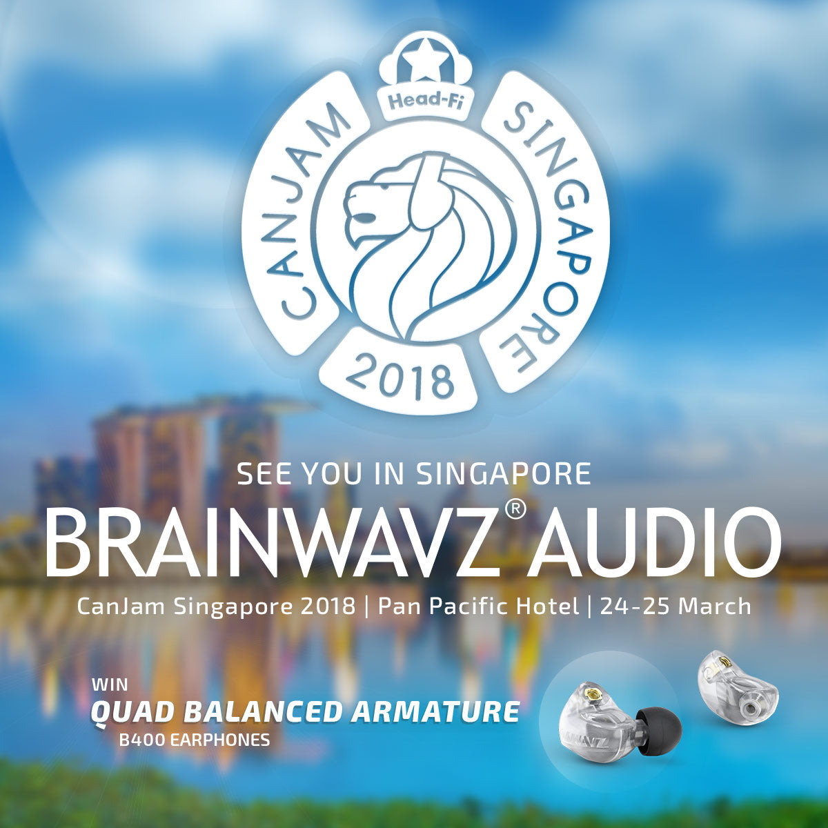 Brainwavz Singapore Canjam