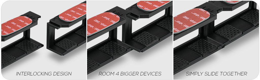 Join multiple Brainwavz mounts together to accommodate larger devices