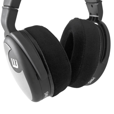 Headphone Memory Foam Earpads - Oval - Angled Velour