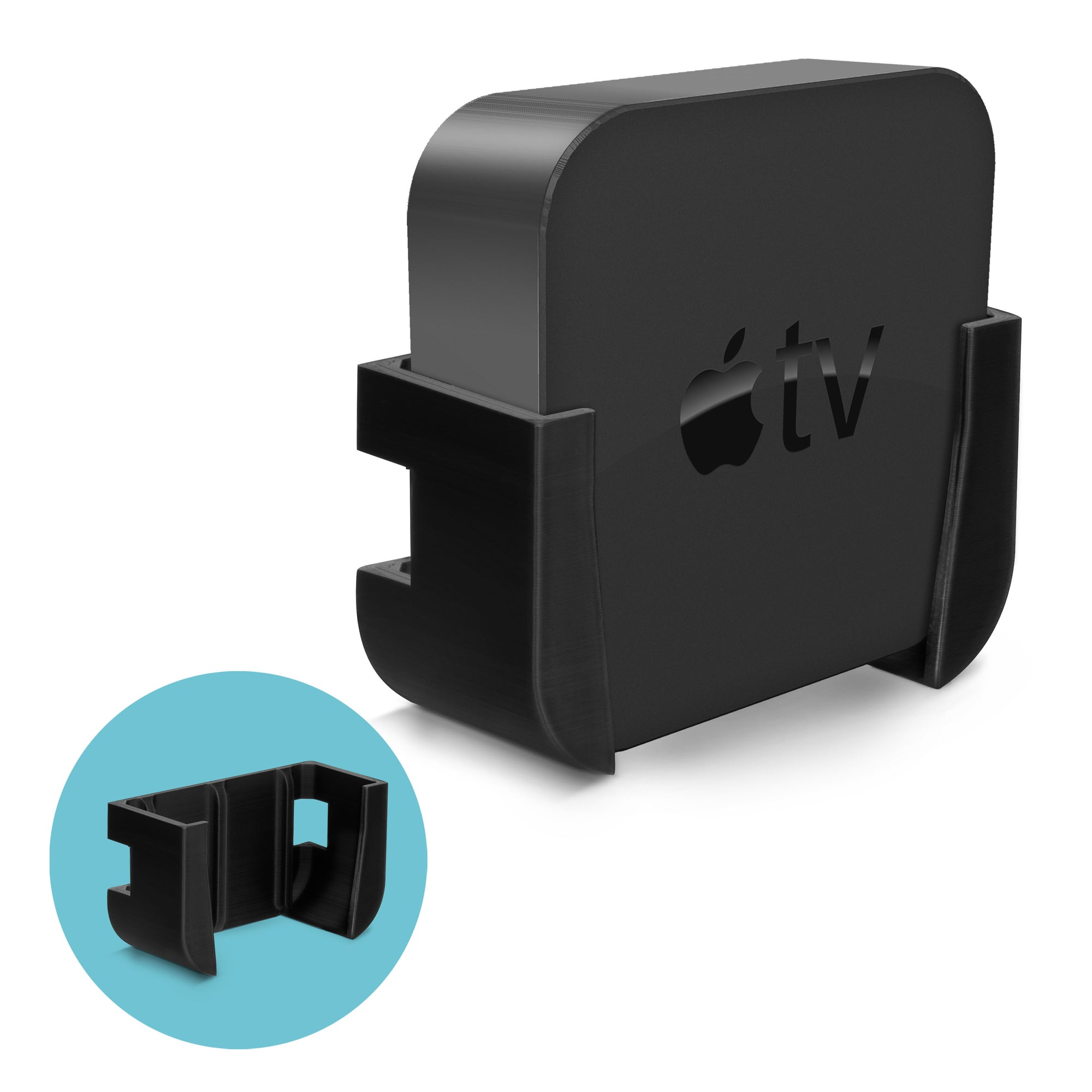 Wall & TV Mount Bracket For Apple TV 4K & HD - Stick On