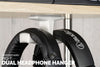 Big -T: Under Desk Dual Headphone Hanger (Various Colors)