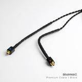 Onyx Black Premium Earphone Cable with MMCX Connector (3.5 mm Jack)