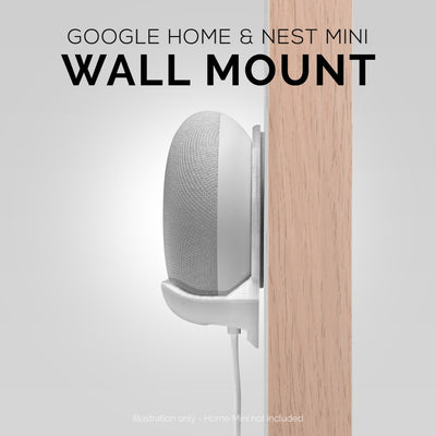 Screwless Wall Mount for Google Home and Nest Mini