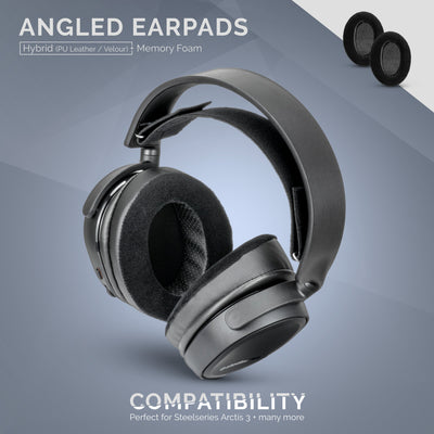 Headphone Memory Foam Earpads - Oval - Angled / Hybrid