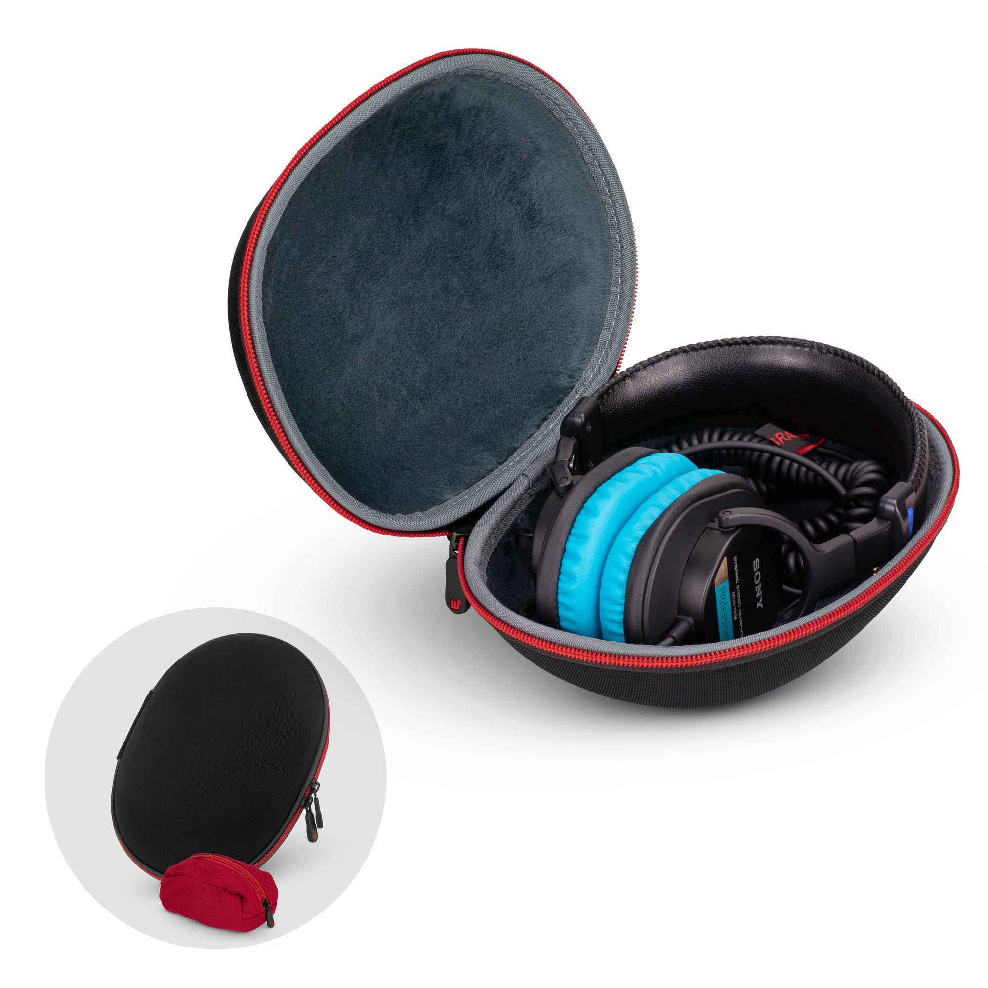 Headphone Hard Shell Carrying Case
