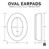 Hybrid Oval Replacement Memory Foam Earpads - Suitable for many Headphones