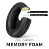 Headphone Memory Foam Earpads - Oval  - Sheepskin Leather