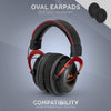 Headphone Memory Foam Earpads - Oval - Velour (Various Colours)