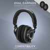 Headphone Memory Foam Earpads - Oval - Micro Suede