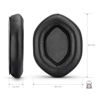 Replacement pu leather earpads for use on v-moda Crossfade 2 Wireless, Crossfade Wireless, Crossfade M-100, Crossfade LP2, Crossfade LP headphone models