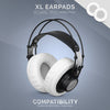 Headphone Memory Foam Earpads - XL Size - PU Leather (Various Colours)
