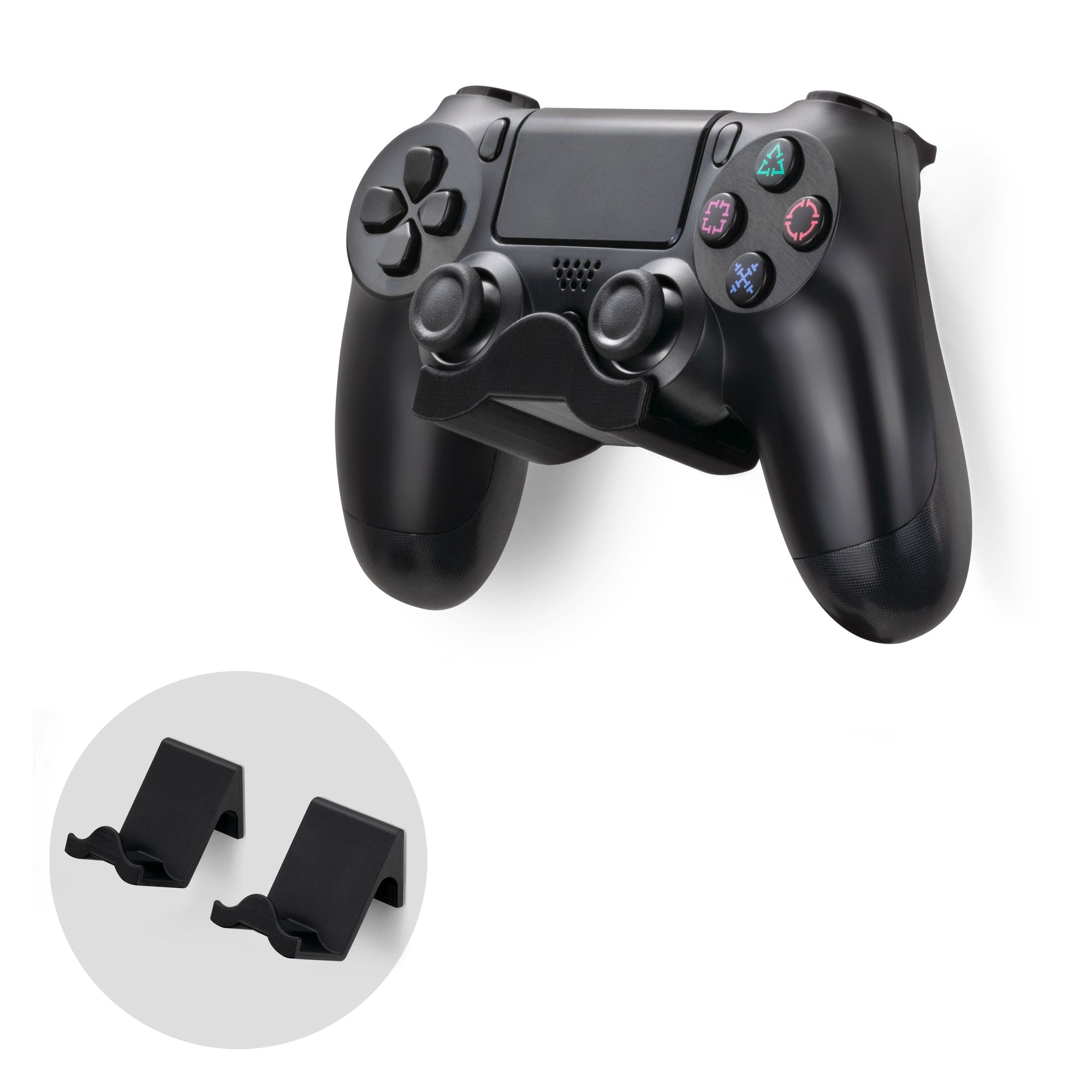 Brainwavz Sony PS4 Game Controller Wall Mountable Holder - 2 Pack