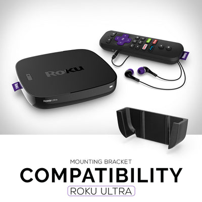 Mounting Bracket for Roku Ultra -  with VHB Tape