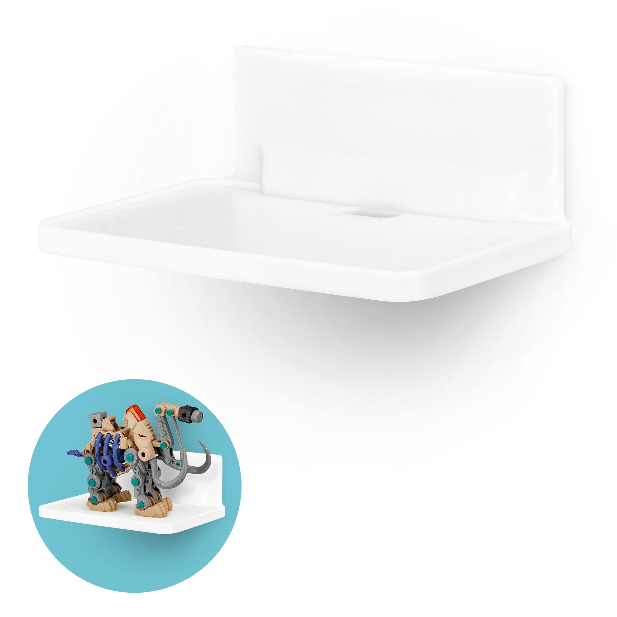 "Screwless Xtra-Wide Floating Shelf (200) w/ Cable Access for Cameras, Baby Monitors, Plants & More (172mm / 6.7"" x 105mm / 4.1"")"