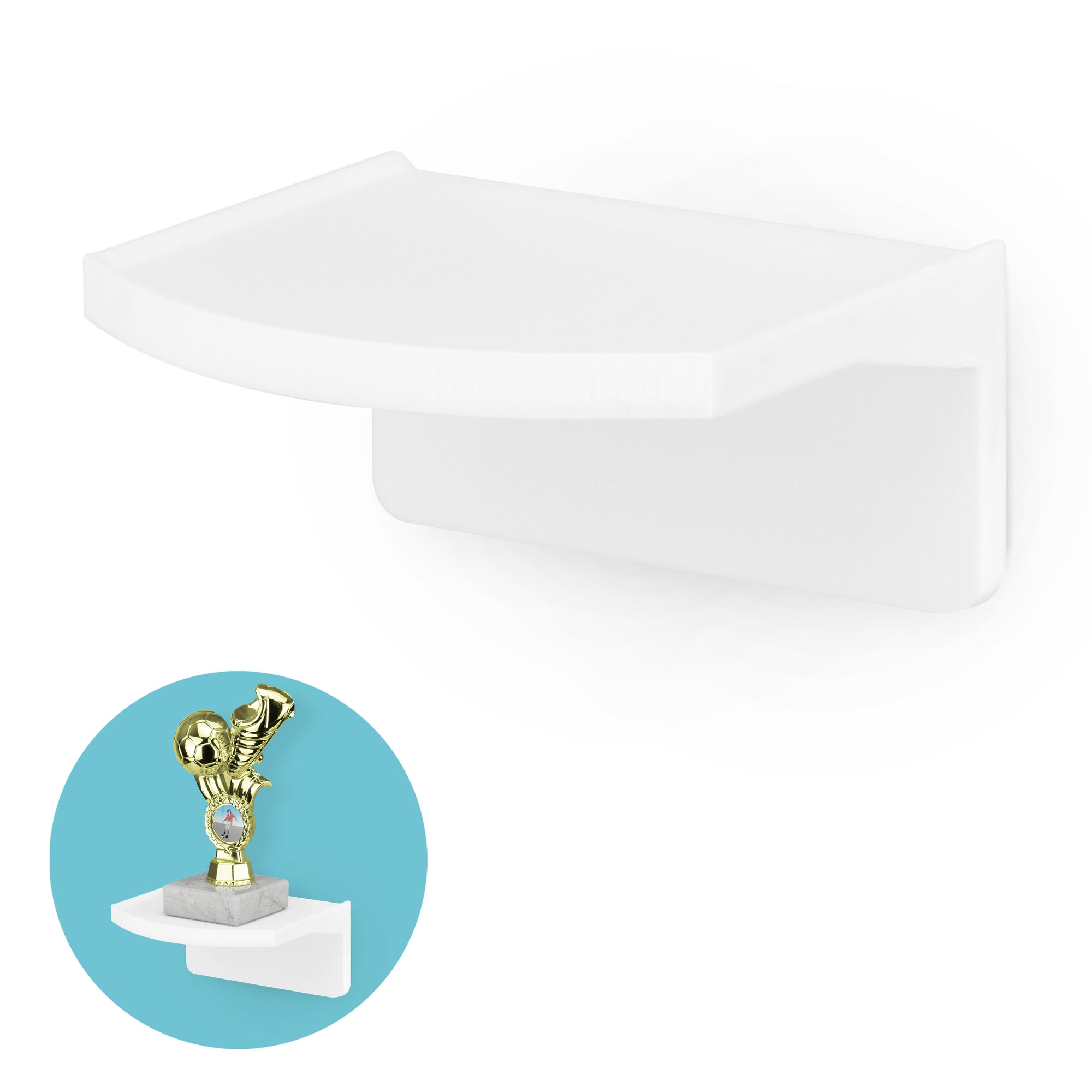 "Screwless Floating Shelf (UM160) for Cameras, Baby Monitors, Plants & More (114m / 4.5"" x 112mm / 4.4"")"