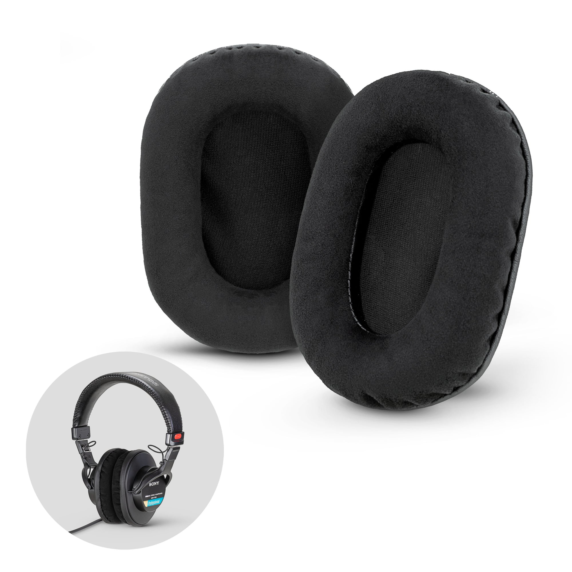 Premium Sony MDR-7506 / V6 / CD900ST Replacement Earpads - Micro Suede