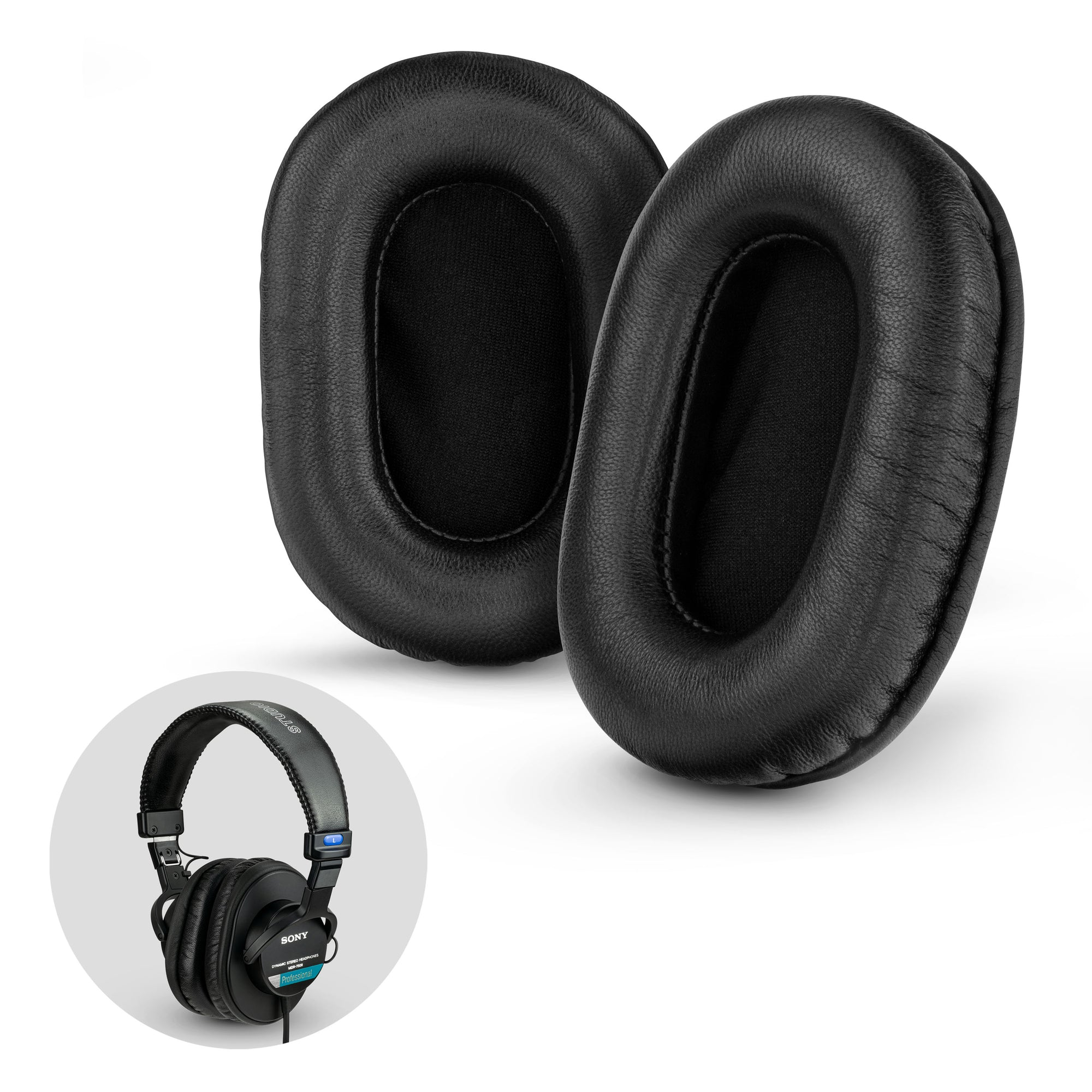Sheepskin Leather Replacement Earpads for SONY MDR-7506 / V6 / CD900ST Headphones