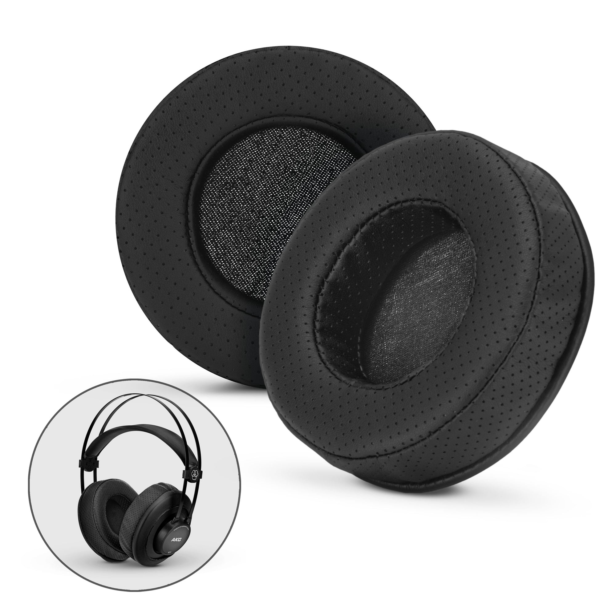 Headphone Memory Foam Earpads - Round - Perforated