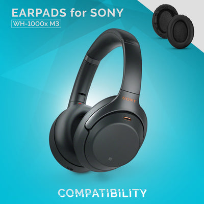 PU Leather Earpads for  Sony WH-1000x M3