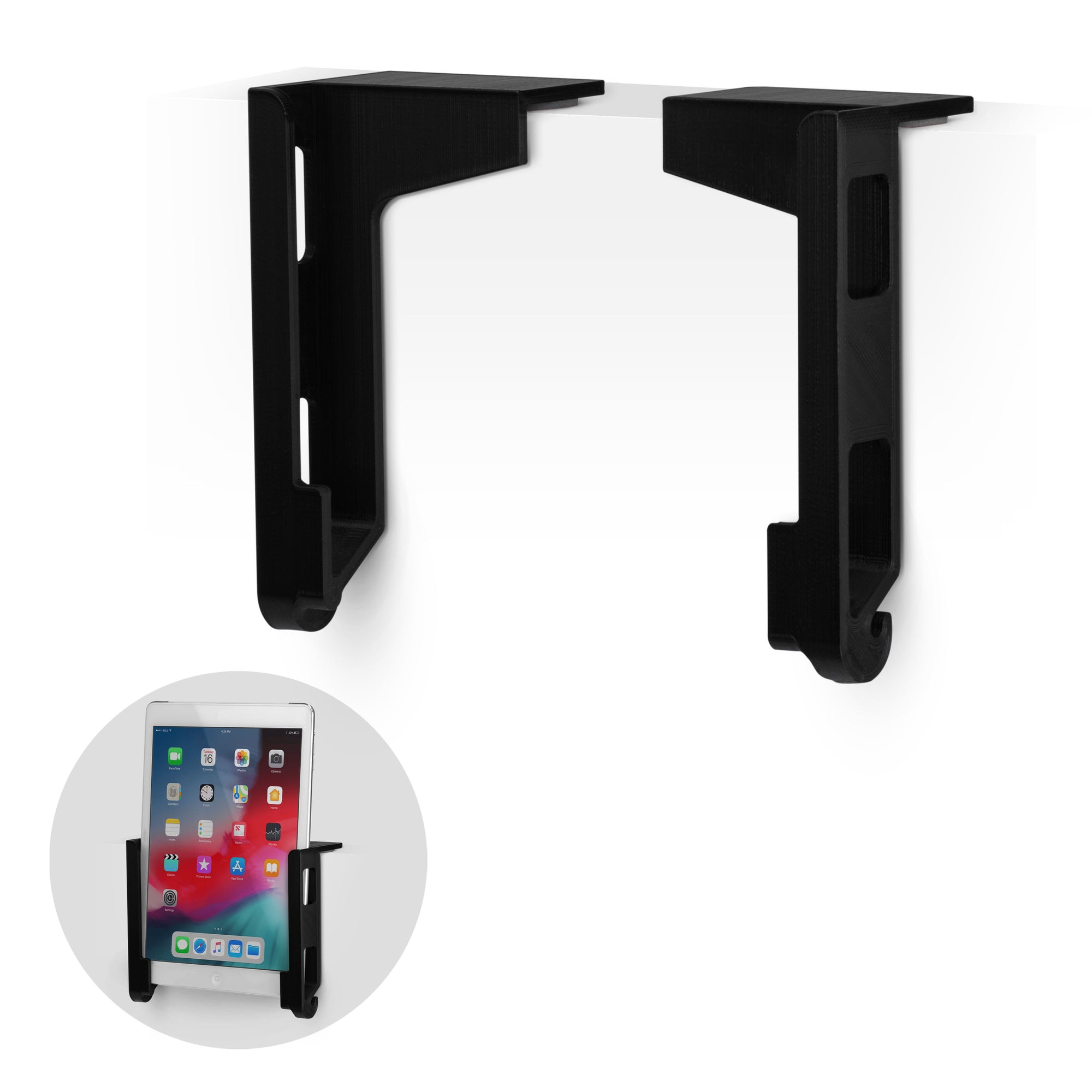 Universal Desk Mounted iPad and Android Tablet Hanger Holder - TDM01