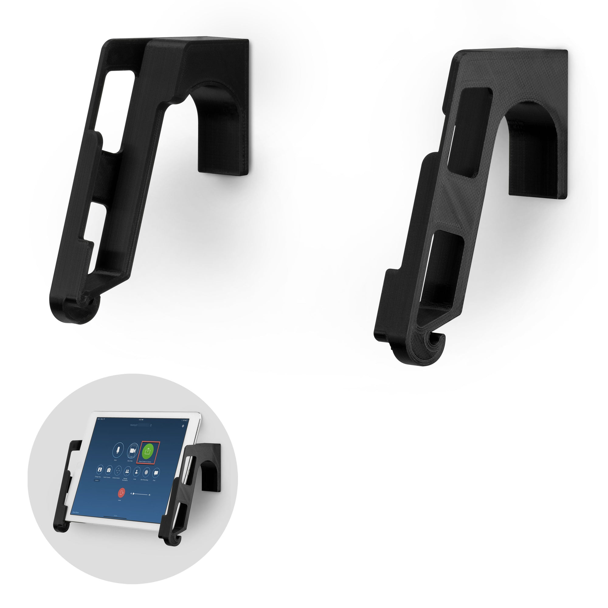 Universal Wall Mounted iPad and Android Tablet Stand Hanger Holder - TWM02
