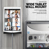 Universal Wide Tablet Holder - Wall Mounted iPad and Android Tablet Stand Hanger - TM03