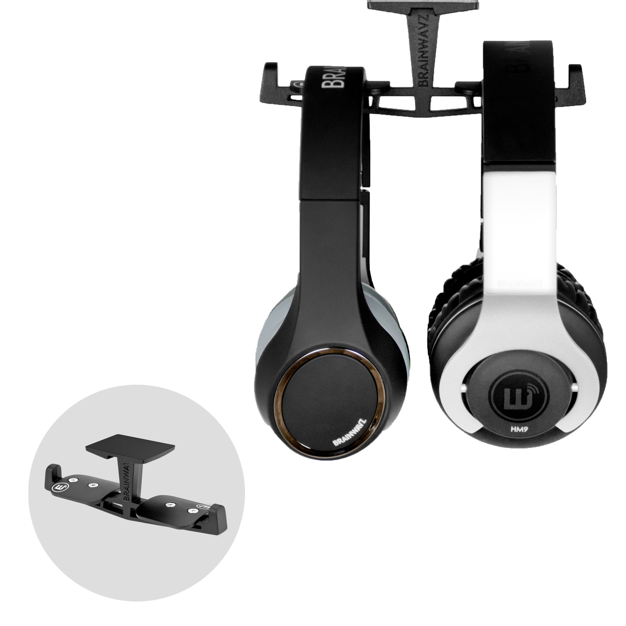 Truss - All Metal Under The Desk Dual Headphone Hanger Stand
