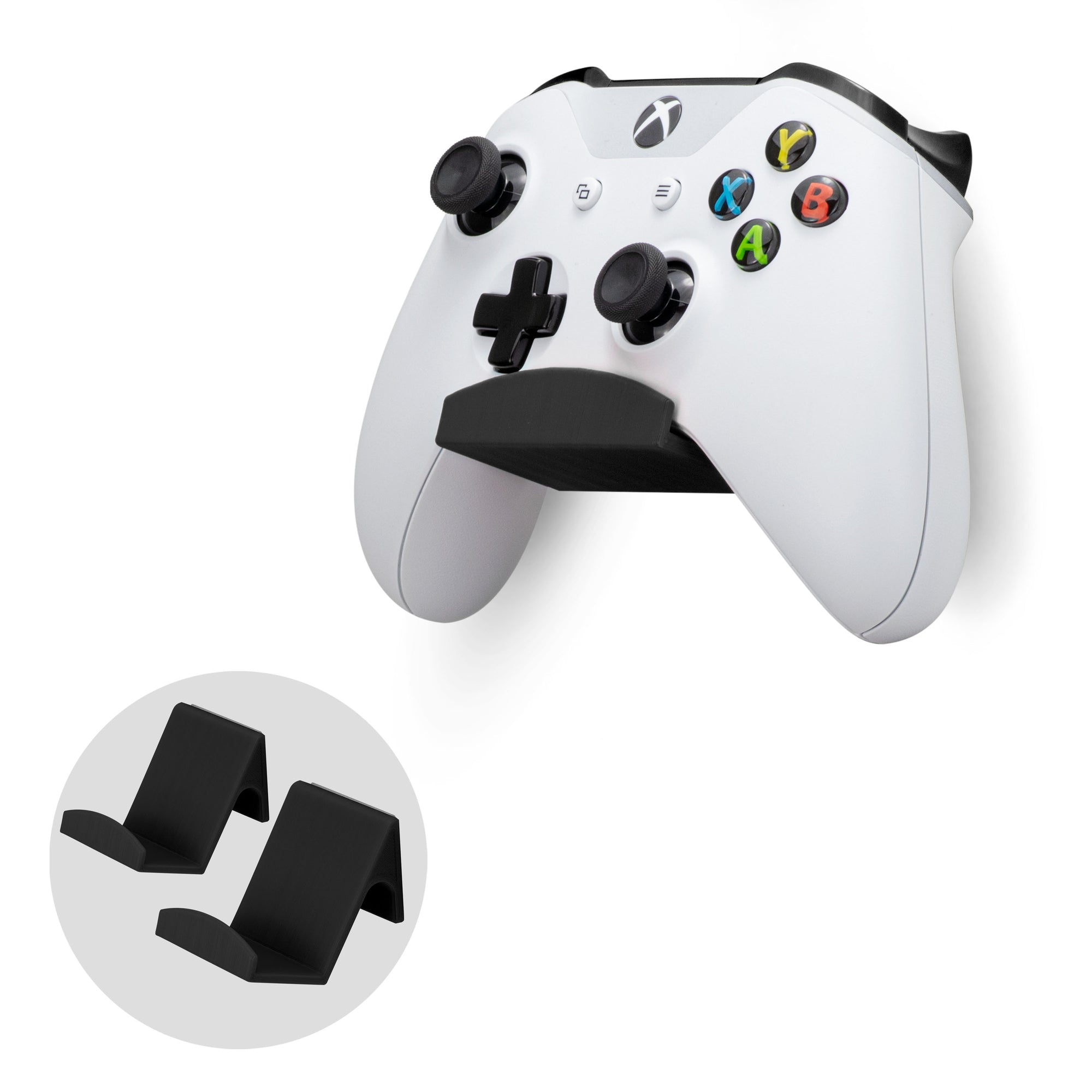 Universal Game Controller Wall Mount Hanger (UGC1) for XBOX, Playstation, PC & More - 2 Pack
