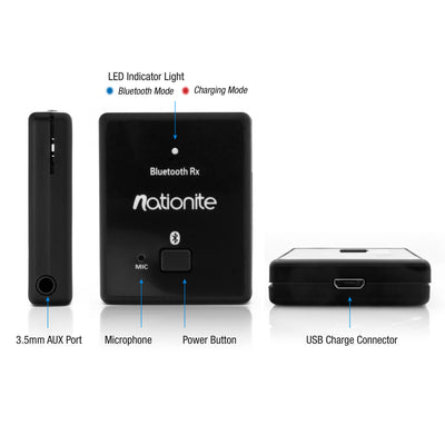 Nationite RX41 Portable Bluetooth Audio Receiver