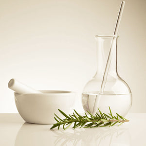 rosemary herbal medicine remedies pestle and mortar beaker dispensary