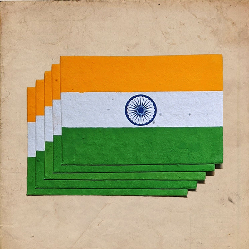Indian Seed Flag - DIY KIT (Green)