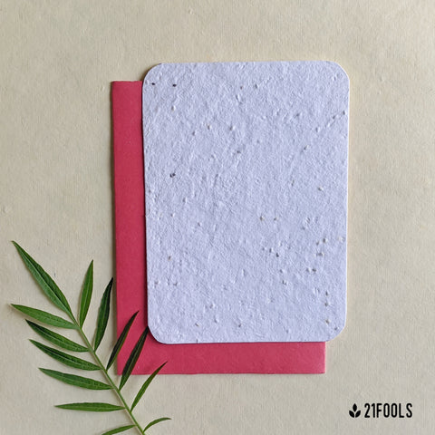 Plantable Seed Paper with Envelope (Blank) - Pack of 5 / Pink