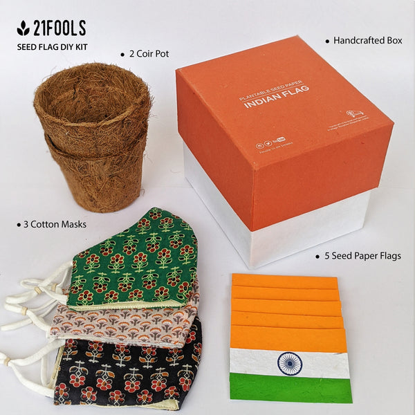 Indian Seed Flag - DIY KIT (Orange)