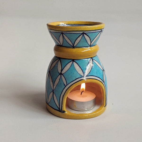 Blue Pottery Aroma Diffuser / Aasmani