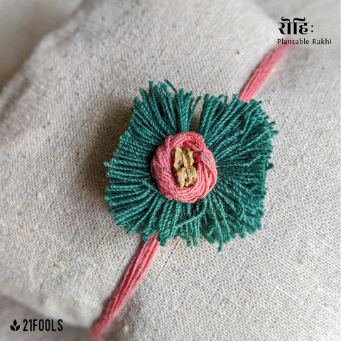 'Rohi' - Plantable Rakhi embedded with seeds / 'Green Flower'