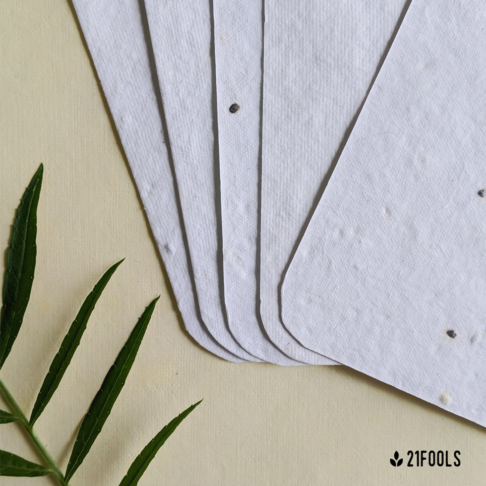 Plantable Seed Paper with Envelope (Blank) - Pack of 5 / Grey